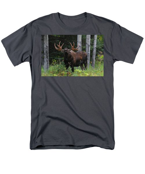 Men's T-Shirt  (Regular Fit) featuring the photograph Bull Moose Flehmen by Doug Lloyd