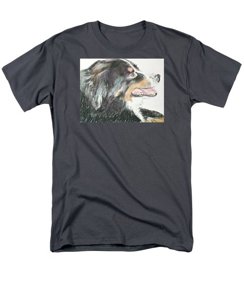 Men's T-Shirt  (Regular Fit) featuring the drawing Buttercup The Wonderdog by Beth Saffer