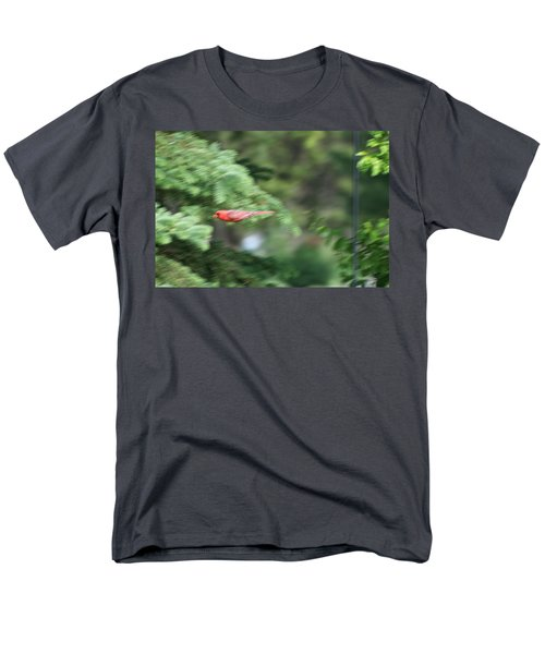 Men's T-Shirt  (Regular Fit) featuring the photograph Cardinal In Flight by Thomas Woolworth