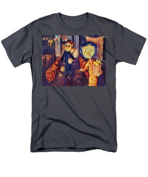 Men's T-Shirt  (Regular Fit) featuring the painting Coraline Circus by Joe Misrasi