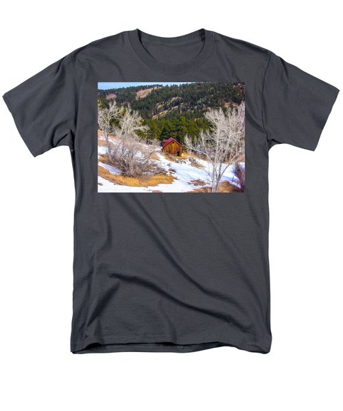 Men's T-Shirt  (Regular Fit) featuring the photograph Country Barn by Shannon Harrington