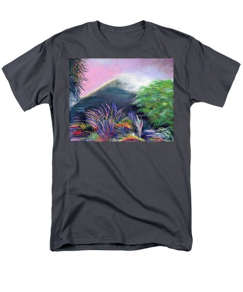 Men's T-Shirt  (Regular Fit) featuring the painting Croagh Patrick by Alys Caviness-Gober