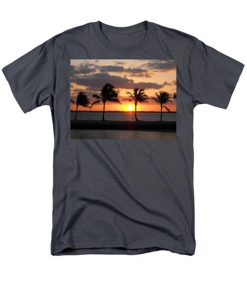 Men's T-Shirt  (Regular Fit) featuring the photograph Cudjoe Sunrise by Clara Sue Beym