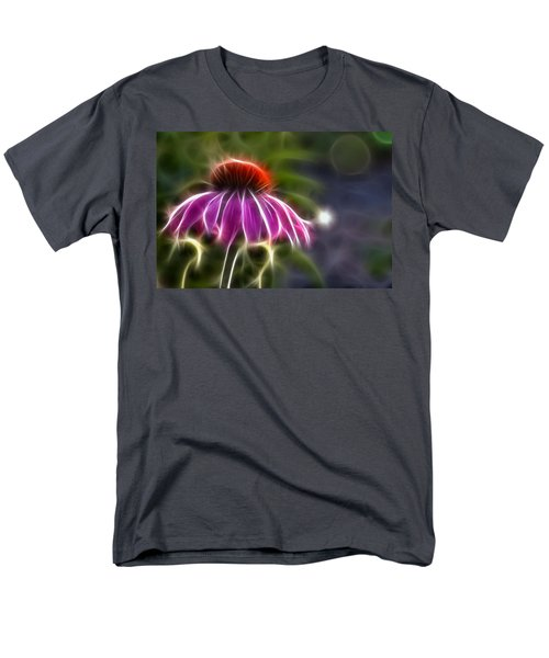 Men's T-Shirt  (Regular Fit) featuring the photograph Electrified Coneflower by Lynne Jenkins