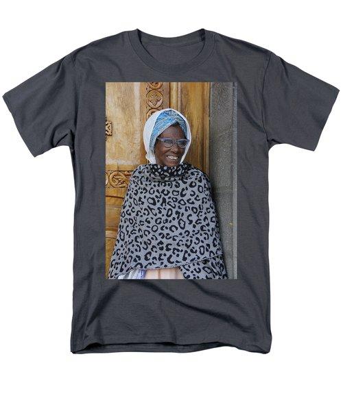 Ethiopia-south Orthodox Christian Woman Men's T-Shirt  (Regular Fit) by Robert SORENSEN