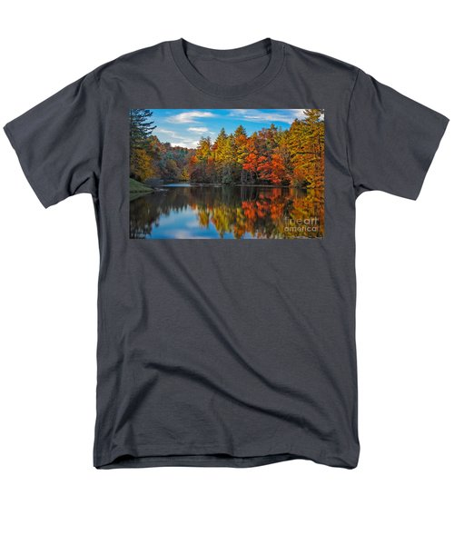 Fall Reflection Men's T-Shirt  (Regular Fit) by Ronald Lutz