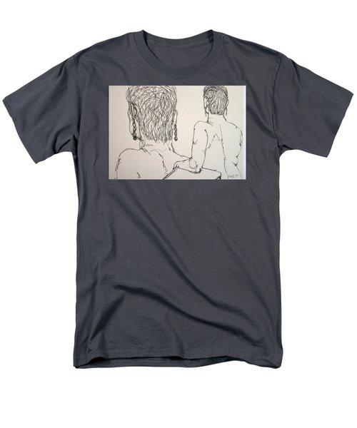 Female Nude Beside Herself Men's T-Shirt  (Regular Fit)