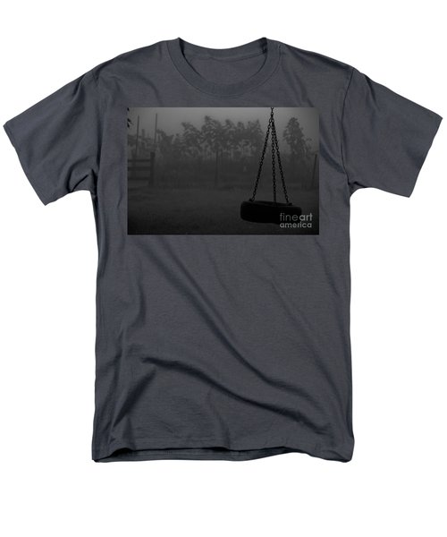 Men's T-Shirt  (Regular Fit) featuring the photograph Foggy Playground by Cheryl Baxter