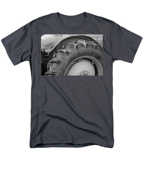 Men's T-Shirt  (Regular Fit) featuring the photograph Ford Tractor In Black And White by Jennifer Ancker
