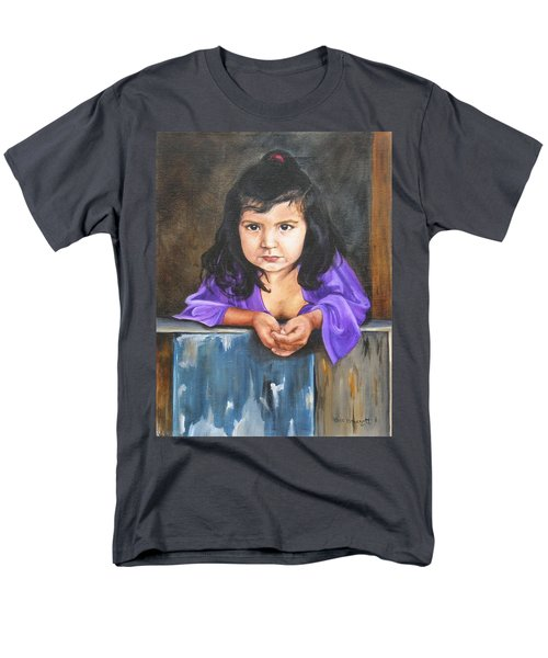 Men's T-Shirt  (Regular Fit) featuring the painting Girl From San Luis by Lori Brackett