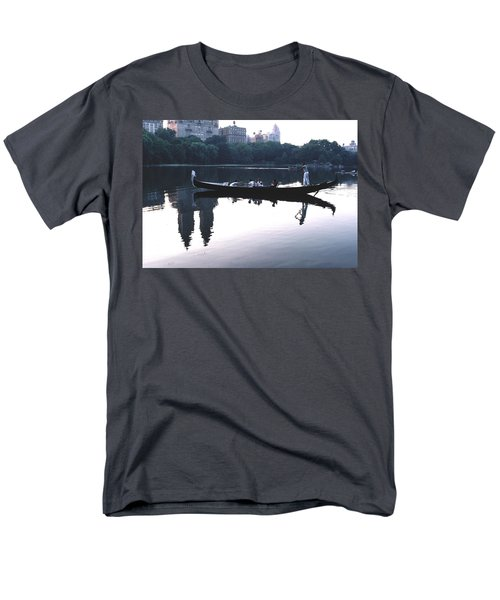 Men's T-Shirt  (Regular Fit) featuring the photograph Gondola On The Central Park Lake by Tom Wurl