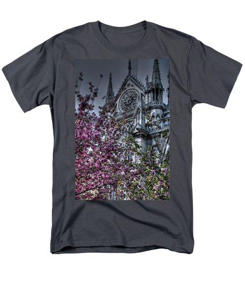 Men's T-Shirt  (Regular Fit) featuring the photograph Gothic Paris by Jennifer Ancker