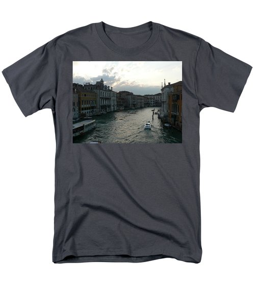 Men's T-Shirt  (Regular Fit) featuring the photograph Grand Canal At Dusk by Laurel Best