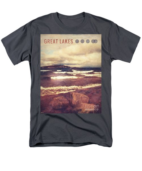 Men's T-Shirt  (Regular Fit) featuring the photograph Great Lakes by Phil Perkins