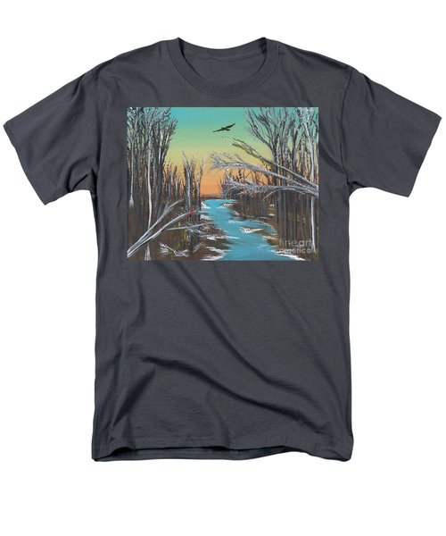 Men's T-Shirt  (Regular Fit) featuring the painting Happy Day by Alys Caviness-Gober