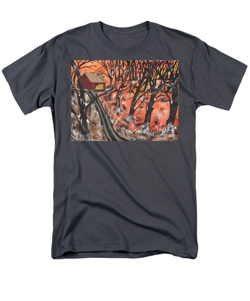 Men's T-Shirt  (Regular Fit) featuring the painting Hazy Shade Of Winter by Jeffrey Koss