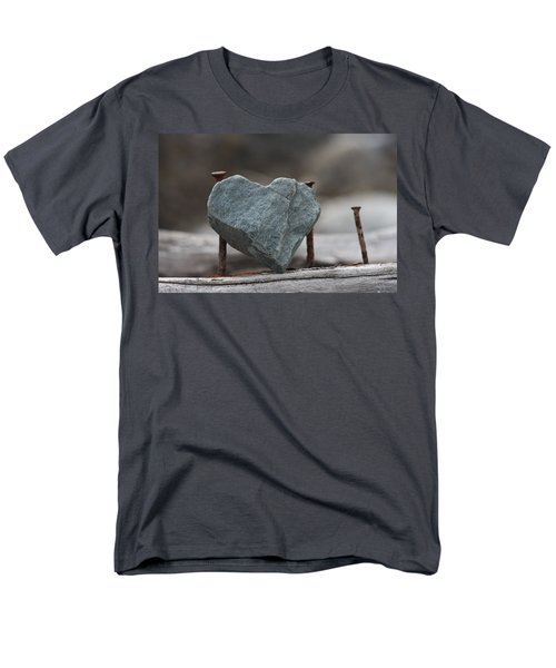 Heart Of Stone Men's T-Shirt  (Regular Fit) by Cathie Douglas