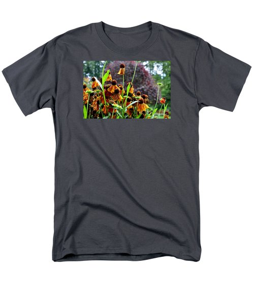 Men's T-Shirt  (Regular Fit) featuring the photograph Helenium Sneezeweed  by Tanya  Searcy