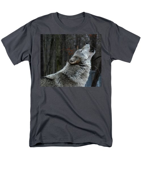 Howling Tundra Wolf Men's T-Shirt  (Regular Fit) by Richard Bryce and Family