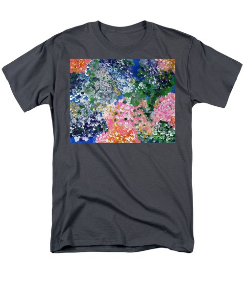 Men's T-Shirt  (Regular Fit) featuring the painting Hydrangeas I by Alys Caviness-Gober