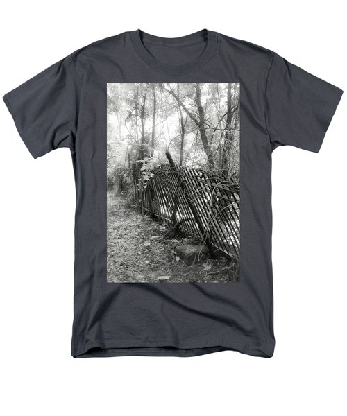Men's T-Shirt  (Regular Fit) featuring the photograph Leaning Fence by Mary Almond