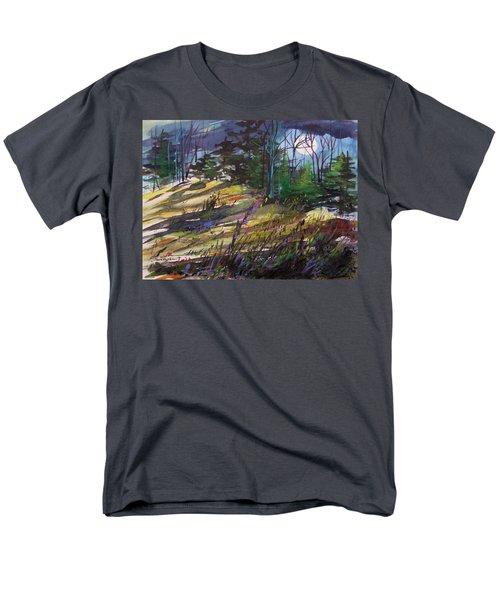 Men's T-Shirt  (Regular Fit) featuring the painting Light Against Indigo by John Williams
