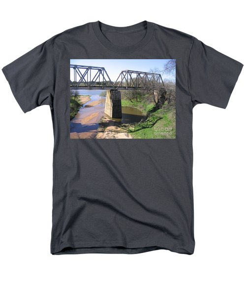 Men's T-Shirt  (Regular Fit) featuring the photograph Little Llano Creek by Mark Robbins