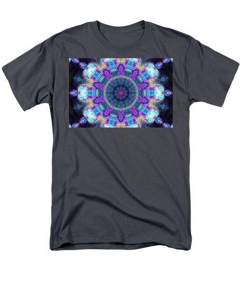 Men's T-Shirt  (Regular Fit) featuring the digital art Magic Snowflake by Alec Drake
