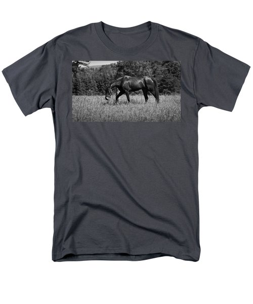 Men's T-Shirt  (Regular Fit) featuring the photograph Mare In Field by Davandra Cribbie
