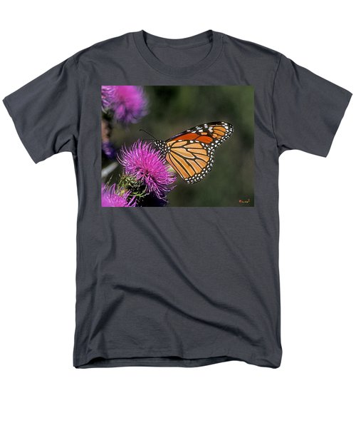 Monarch On Thistle 13f Men's T-Shirt  (Regular Fit) by Gerry Gantt
