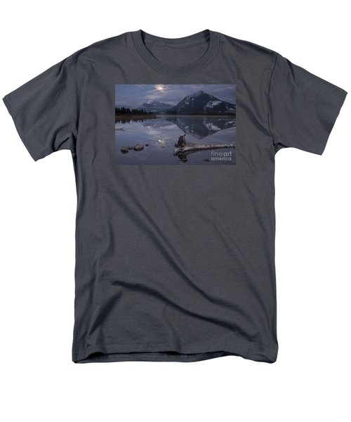 Moonrise Over Banff Men's T-Shirt  (Regular Fit) by Keith Kapple