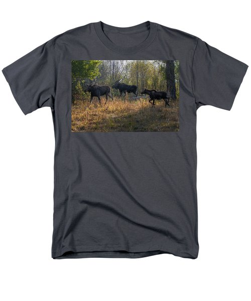 Moose Family Men's T-Shirt  (Regular Fit) by Ronald Lutz