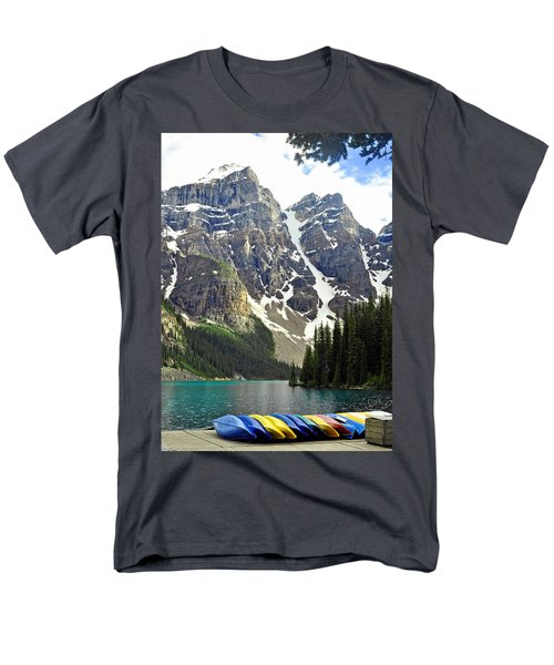 Men's T-Shirt  (Regular Fit) featuring the photograph Moraine Lake by Lisa Phillips