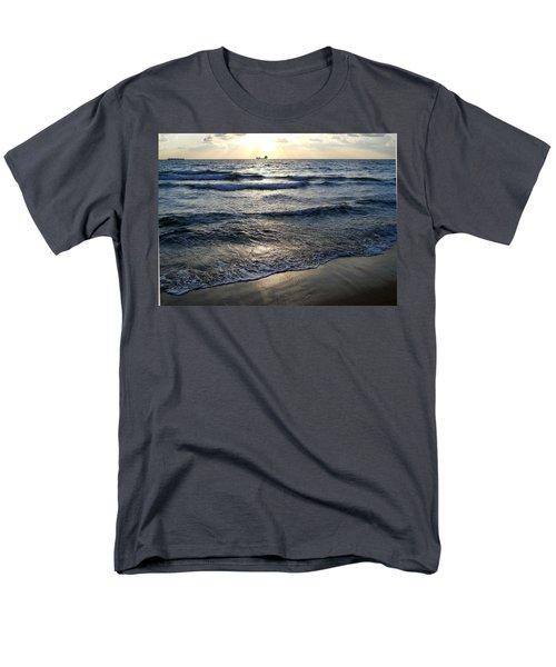 Men's T-Shirt  (Regular Fit) featuring the photograph Morning Surf by Clara Sue Beym