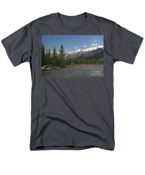 Men's T-Shirt  (Regular Fit) featuring the photograph My Favorite Of The Grand Tetons by Living Color Photography Lorraine Lynch