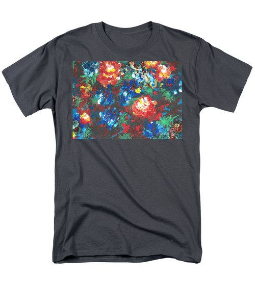 Men's T-Shirt  (Regular Fit) featuring the painting My Sister's Garden II by Alys Caviness-Gober