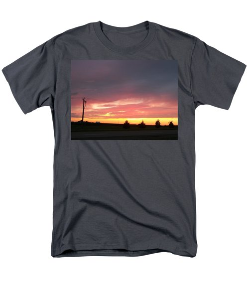 Nebraska Sunset Men's T-Shirt  (Regular Fit) by Adam Cornelison