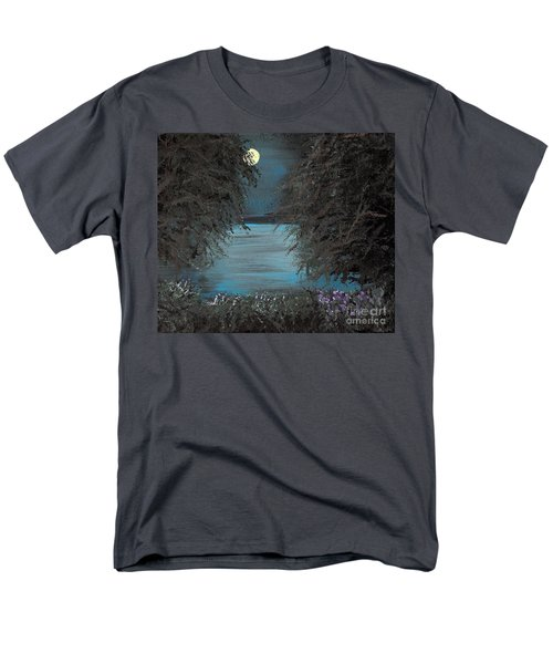 Men's T-Shirt  (Regular Fit) featuring the painting Night In The Bayou by Alys Caviness-Gober