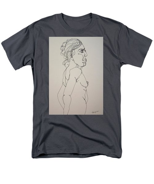 Nude Girl In Contour Men's T-Shirt  (Regular Fit) by Rand Swift