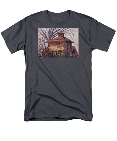 Men's T-Shirt  (Regular Fit) featuring the painting Old Garage by Rod Ismay