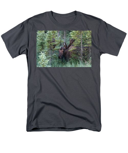 Men's T-Shirt  (Regular Fit) featuring the photograph Peeking Through The Spruce by Doug Lloyd