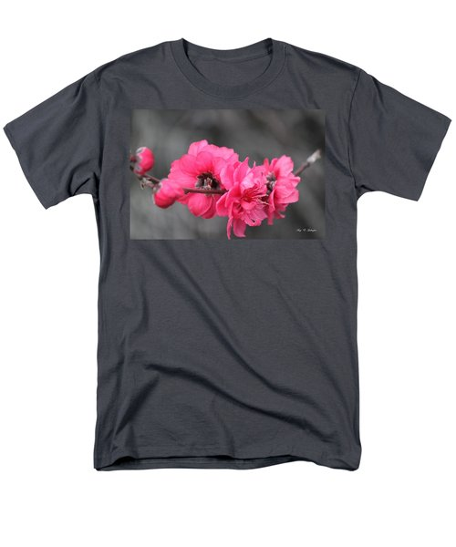 Pink Blossoms  Men's T-Shirt  (Regular Fit) by Amy Gallagher