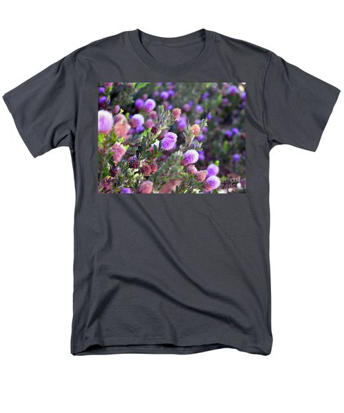 Men's T-Shirt  (Regular Fit) featuring the photograph Pink Fuzzy Balls by Clayton Bruster