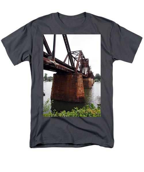 Men's T-Shirt  (Regular Fit) featuring the photograph Railroad Bridge 1 by Kay Lovingood