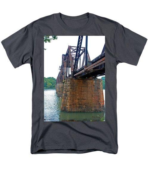 Men's T-Shirt  (Regular Fit) featuring the photograph Railroad Bridge 2 by Kay Lovingood