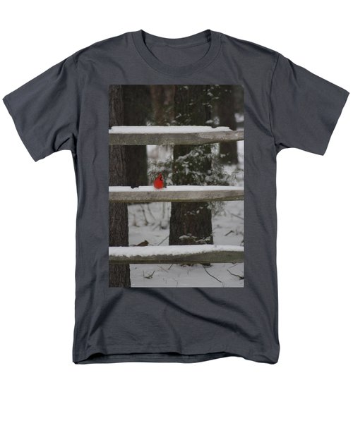 Men's T-Shirt  (Regular Fit) featuring the photograph Red Bird by Stacy C Bottoms