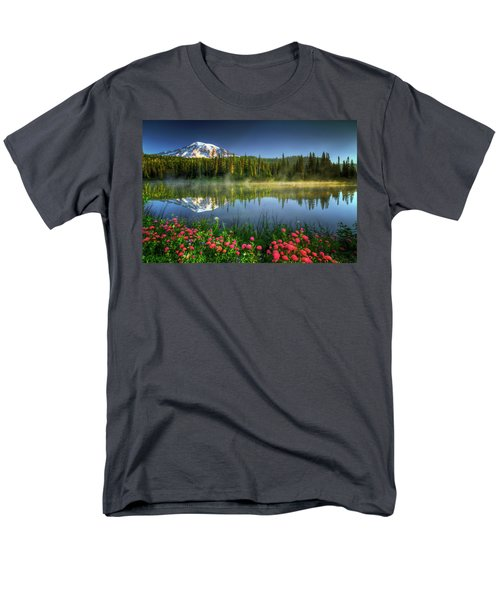 Men's T-Shirt  (Regular Fit) featuring the photograph Reflection Lakes by William Lee