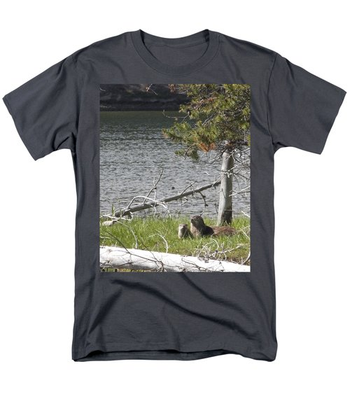 Men's T-Shirt  (Regular Fit) featuring the photograph River Otter by Belinda Greb