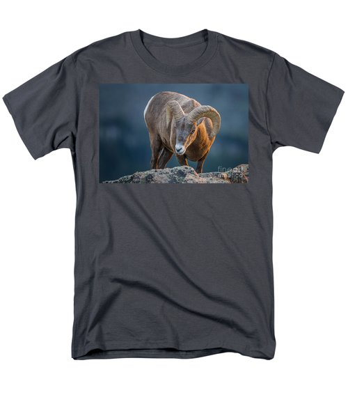 Rocky Mountain Big Horn Ram Men's T-Shirt  (Regular Fit) by Ronald Lutz