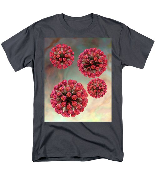 Rubella Virus Particles Men's T-Shirt  (Regular Fit) by Russell Kightley